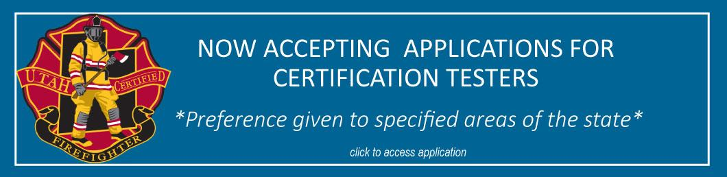 Accepting Applications for Certification Testers