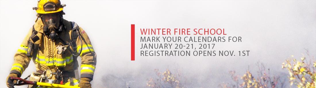 Registration for Winter Fire School opens Nov 1st