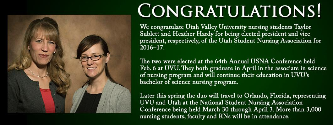 Congratulations Taylor and Heather