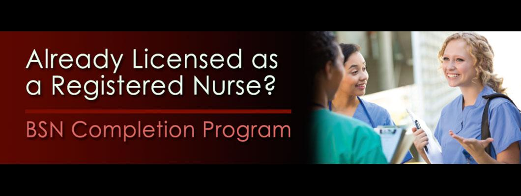 Already a licensed as a Registered Nurse?