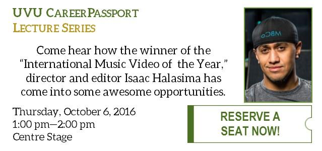 Come hear how the winner of the 'International Music Video of the Year,' director and editor Isaac Halasima has some into some awesome opportunities.