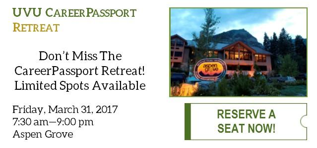 Don't miss the CareerPassport Retreat coming in March! Limited spots available, so click to reserve your seat today! (All day attendance required)