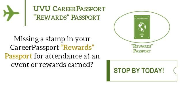 Missing a stamp in your CareerPassport Passport for attendance at an event or rewards earned? Come by our office and we'll update your passport. Who doesn't want free food or entertainment?