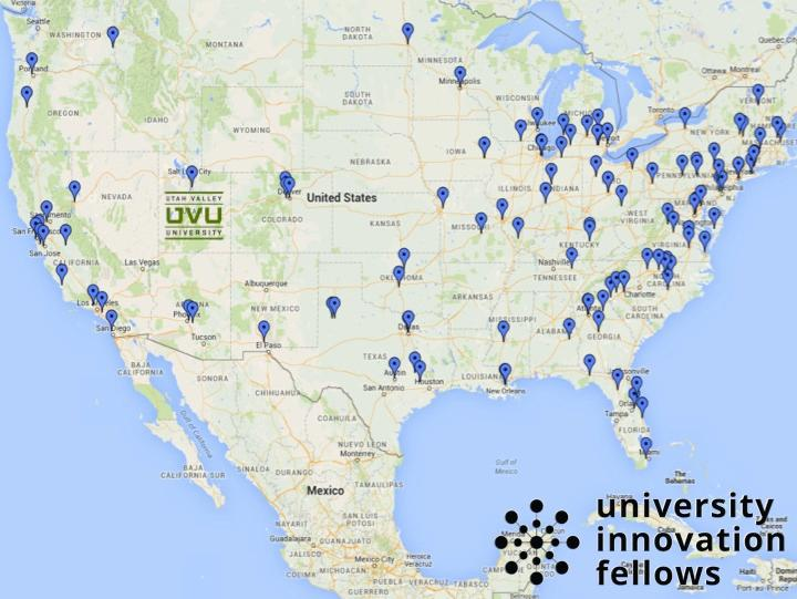 Map of United States UVU location