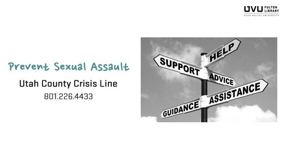 Signs with support, help, advice, guidance, and assistance on them. ad for Utah county crisis line. 801.226.4433.