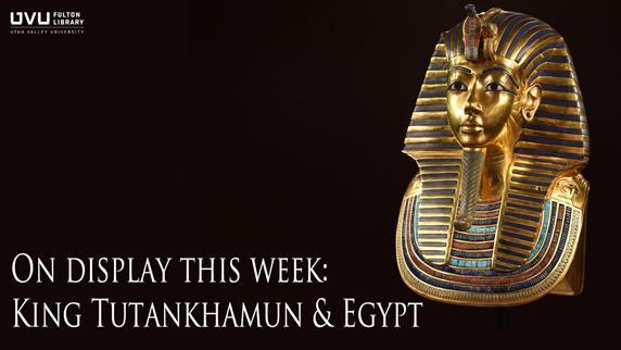 Egyptian head piece. On display this week: king tutankhamun & eqypt.