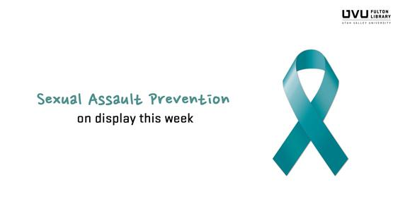 Ribbon. Sexual assault prevention is on display this week.