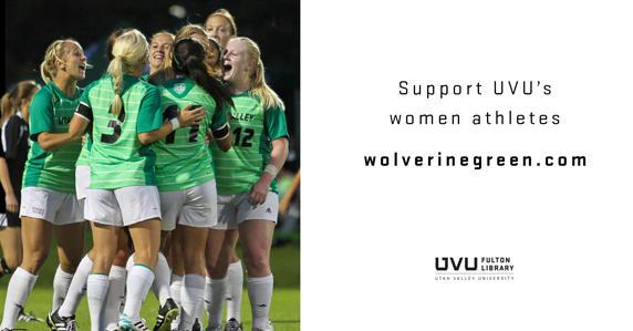 UVU women's soccer team. Support UVU's women athletes.