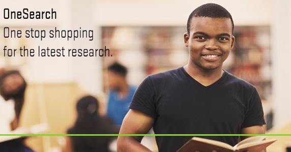Boy with book. Ad for OneSearch.