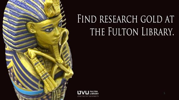 Sarcophagus. Find research gold at the fulton library.