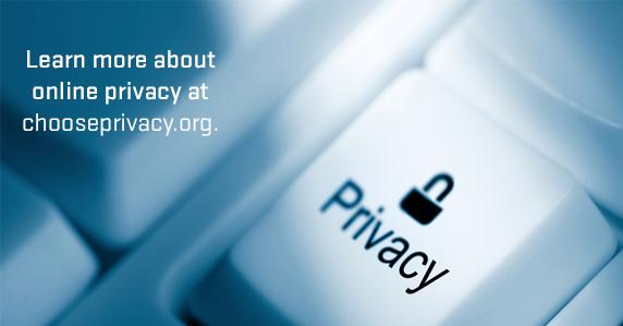 Ad for chooseprivacy.org