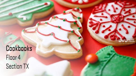 Christmas Cookies. Cook Books can be found in section tx of the 4th floor.