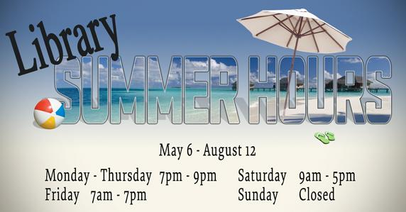 ad for summer hours.