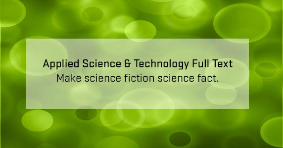 ad for applied science & technology full text database
