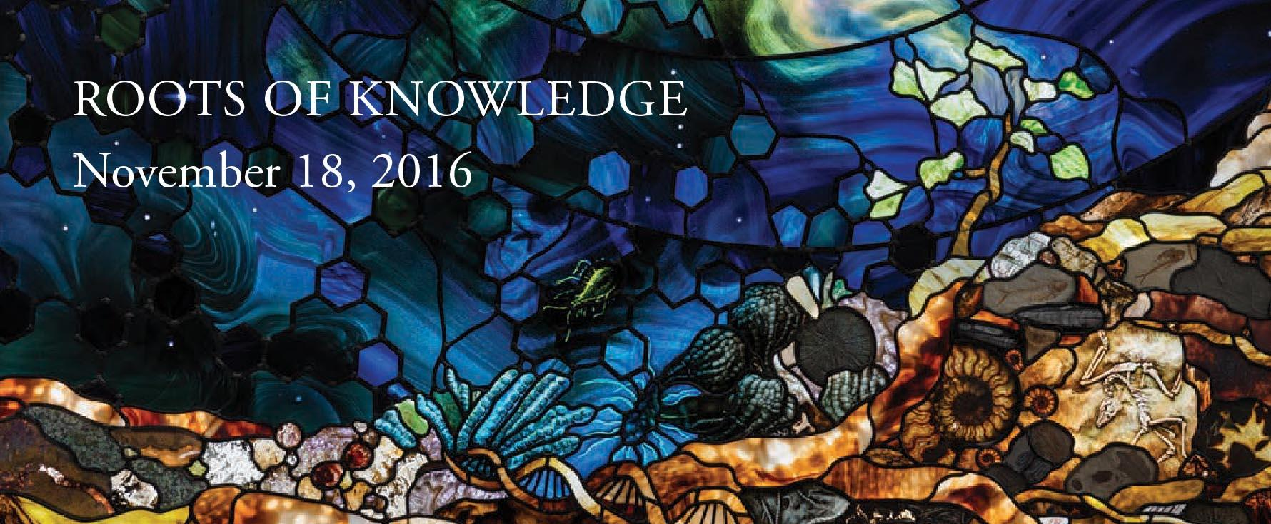 Roots of Knowledge stained glass window November 18, 2016