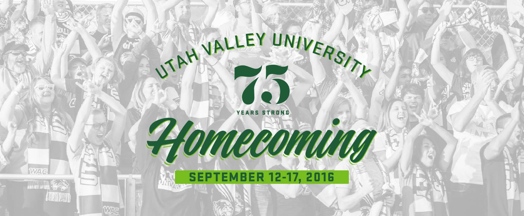 Utah Valley University Homecoming Sept. 12-17, 2016
