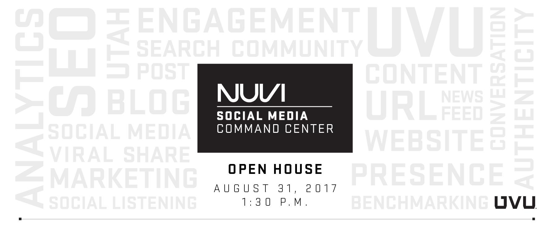 NUVI Social Media Command Center Open House August 31 at 1:30 p.m.