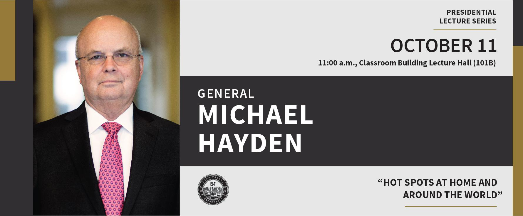 RSVP for the Presidential Lecture with General Michael Hayden