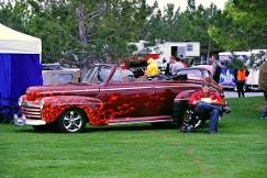 red flame car