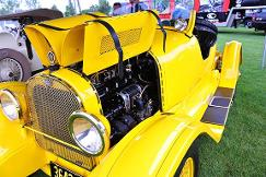 Yellow car engine