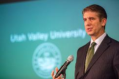 President Holland present updates about Utah Valley University