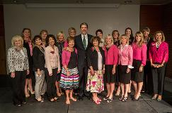 President Holland and the women of UVU's Women's Success Center