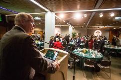 VP Scott Cooksey addresses attendees at the breakfast