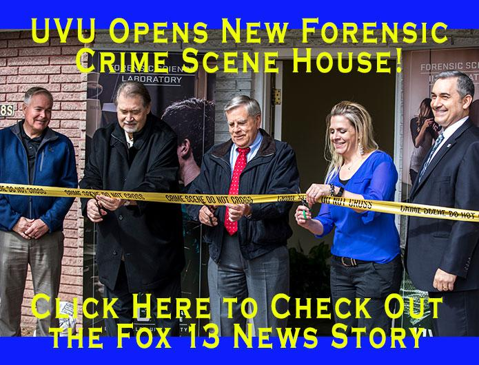 New Forensic Crime Scene House at UVU