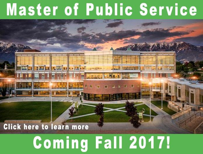Master of Public Service coming fall 2017