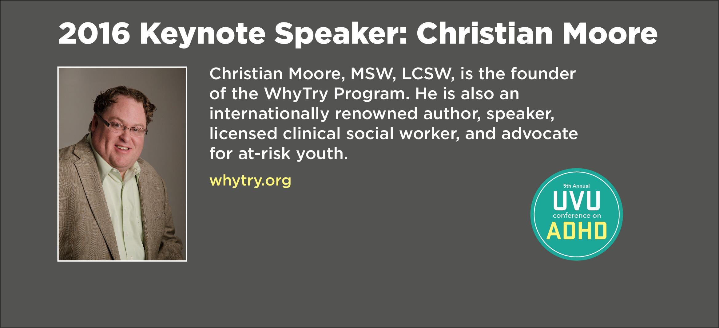 Keynote speaker Christian Moore