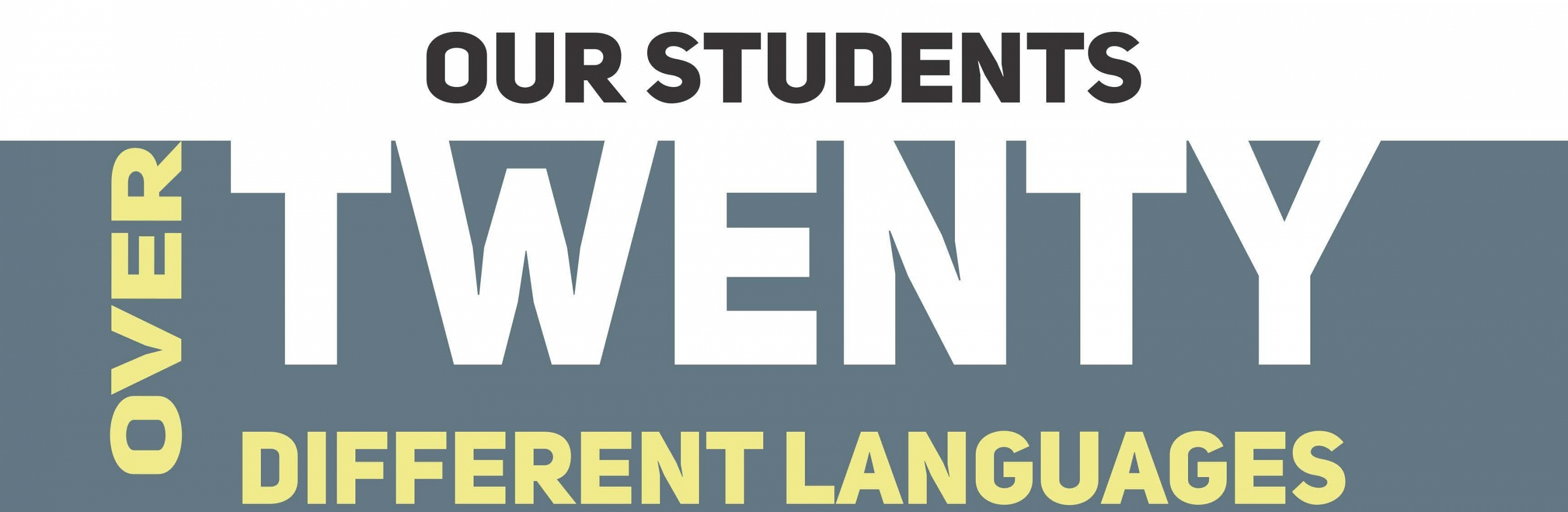 Students speak over 20 languages
