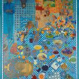 Jeanne Leighton-Lundberg Clarke, Family in Blue, 1981, oil on canvas