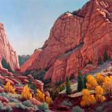 Nina Schumann, Kolob Canyon, 1986, oil on masonite