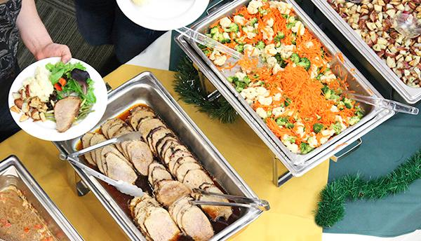 Catering Services food in heating trays