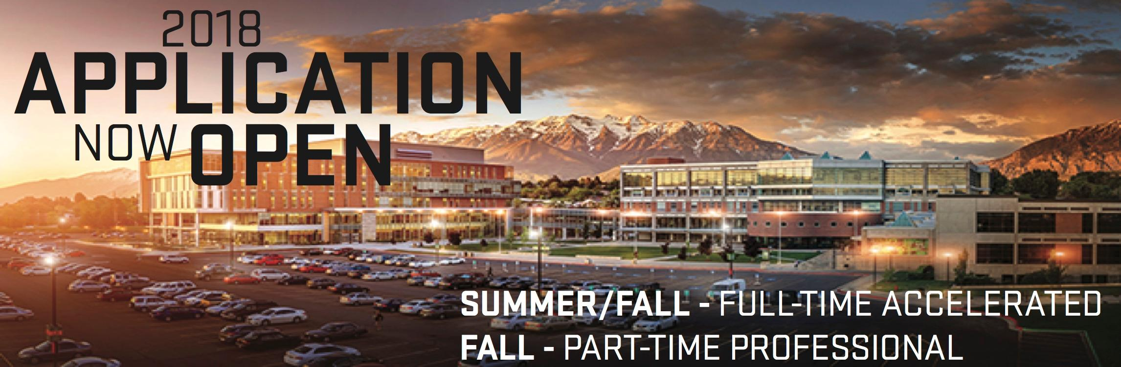 Application now open for Summer and Fall 2018 at Orem Campus