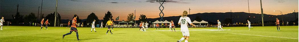 Mens soccer wide shot