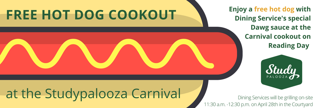 Studypalooza Hot Dog Cookout Ad