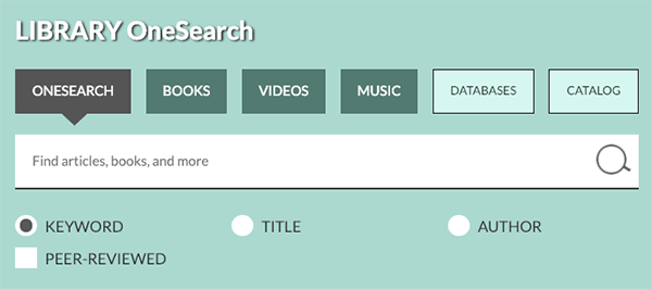 onesearch box