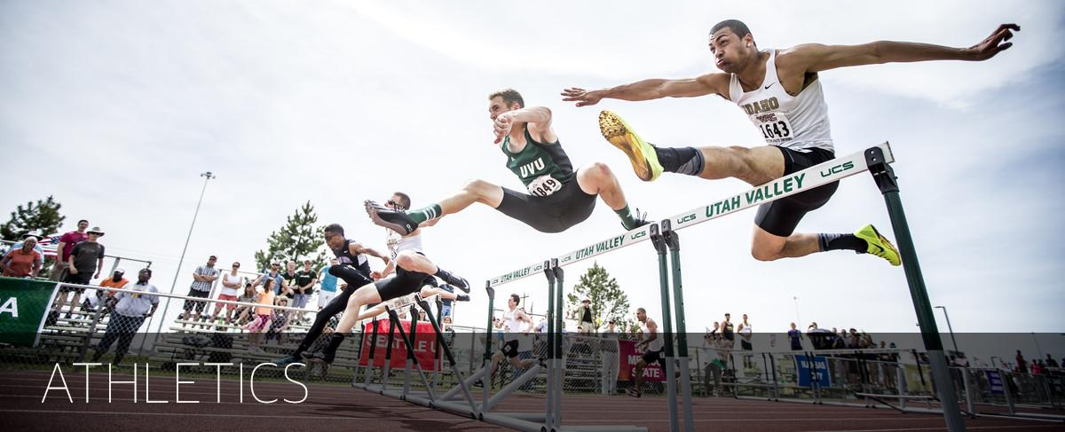 Athletic photo of hurtle jumpers