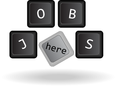 keyboard keys that spell out the word jobs