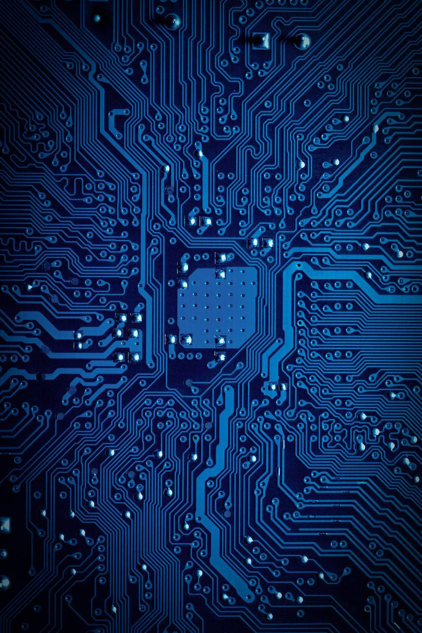 blue technology circuit board