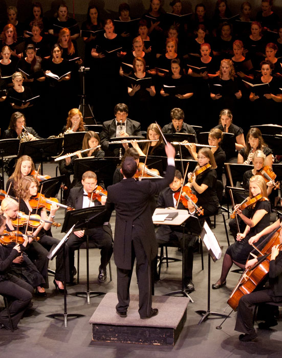 UVU Orchestra performing