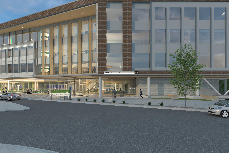 Rendering of new UVU Keller Building