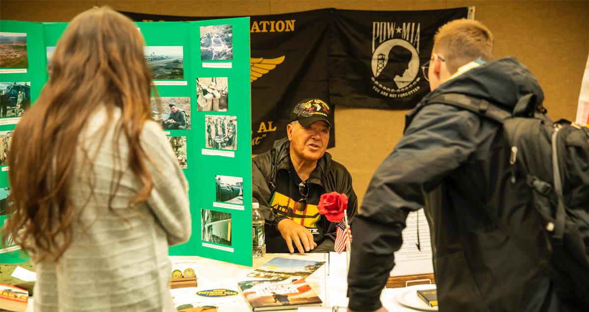 A POW informaton booth at UVU's Veterans Week