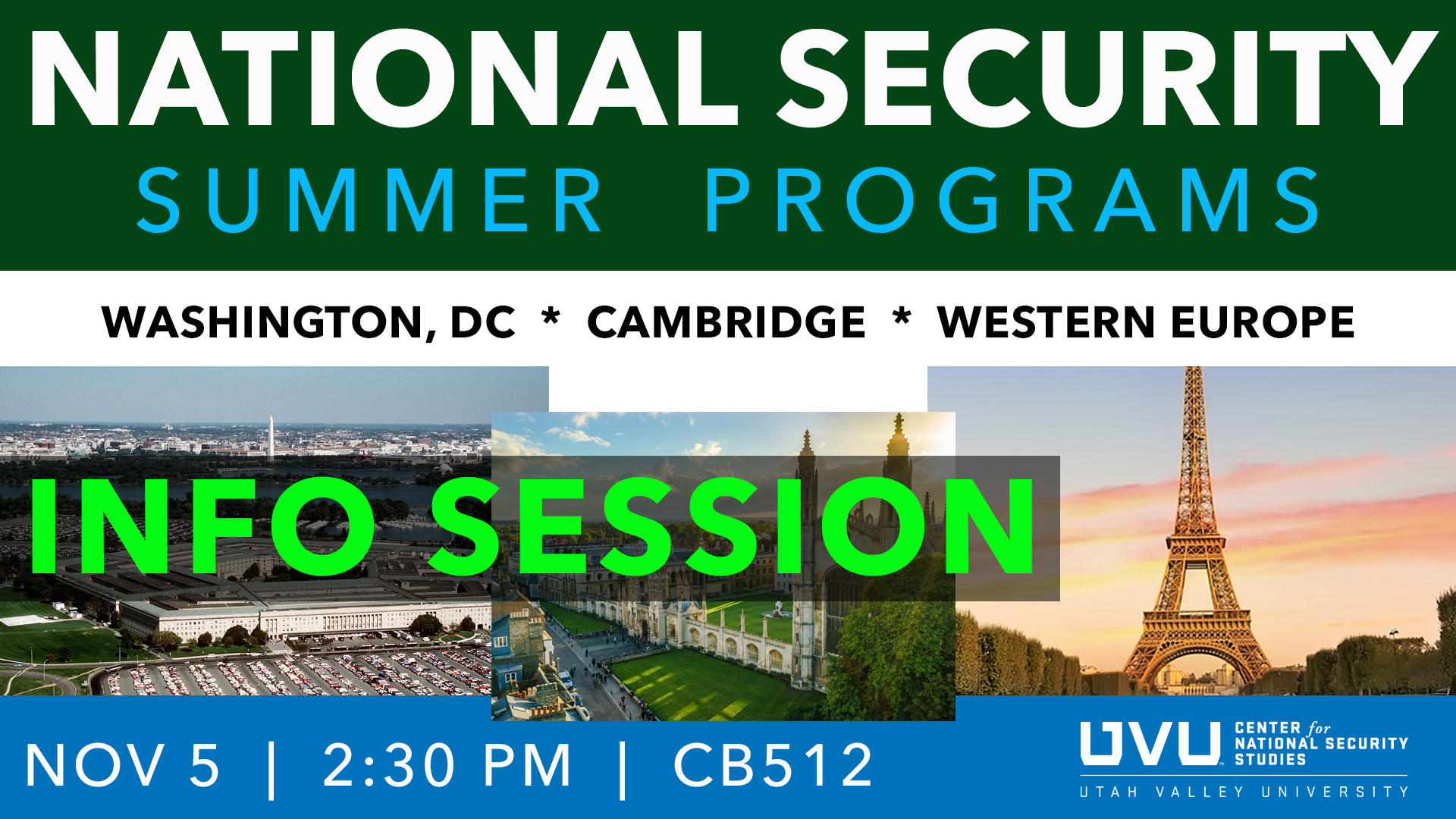 Uvu 2020 Summer Schedule.Nss Events Center For National Security Studies Utah