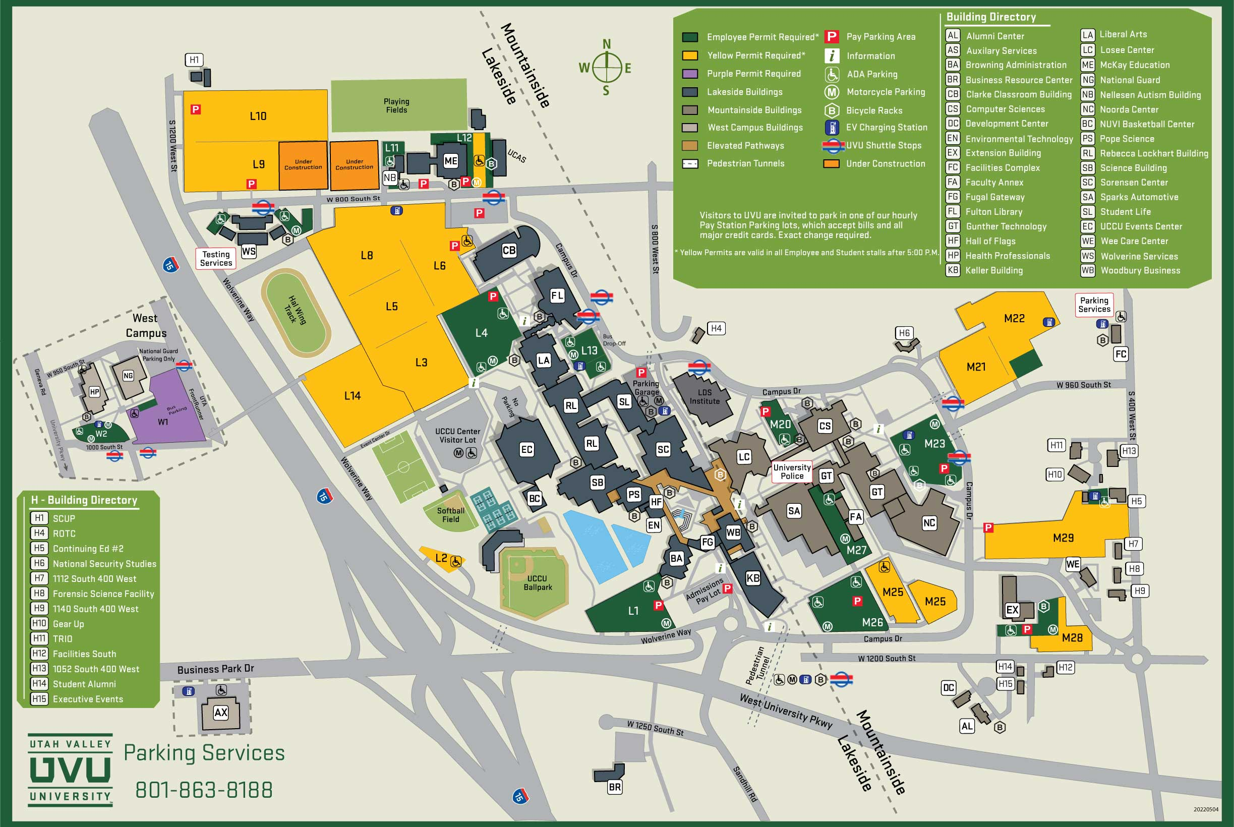 permits  utah valley university - uvu parking map