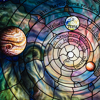 Image of Panel of Roots of knowledge representing our solar system