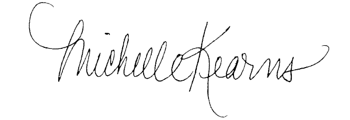 Michelle Kearns signature