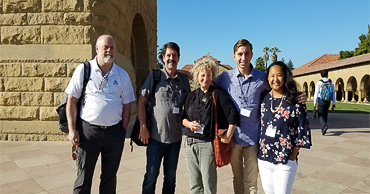 Five professors visiting Stanford